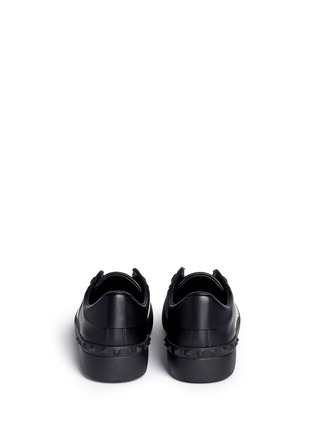 Back View - Click To Enlarge - Valentino - Metallic colourblock leather stud sneakers