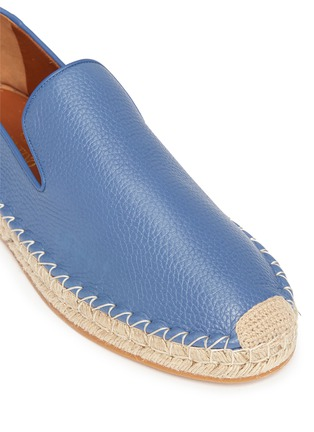 Detail View - Click To Enlarge - Valentino - Pebble leather espadrilles