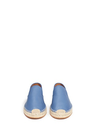 Front View - Click To Enlarge - Valentino - Pebble leather espadrilles
