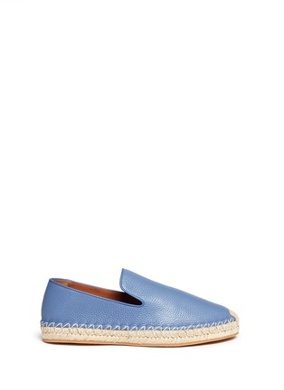 Main View - Click To Enlarge - Valentino - Pebble leather espadrilles