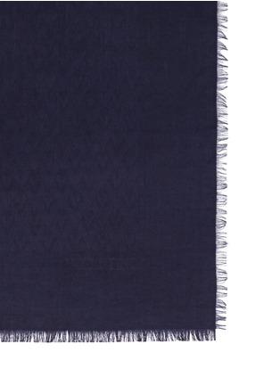 Detail View - Click To Enlarge - Valentino - 'V' logo jacquard silk-wool scarf
