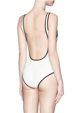 Back View - Click To Enlarge - Solid & Striped - 'The Anne-Marie' low back swimsuit