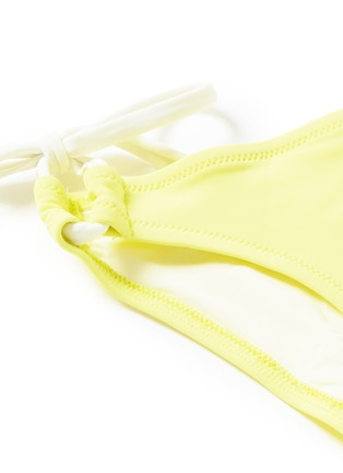Detail View - Click To Enlarge - Solid & Striped - 'The Lily' solid bikini tie bottoms