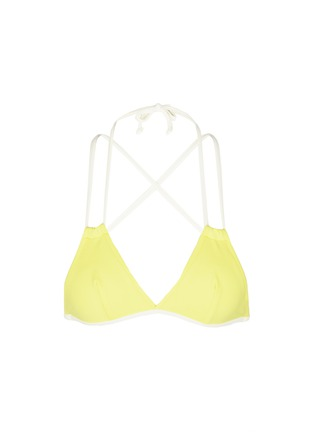 Main View - Click To Enlarge - Solid & Striped - 'The Lily' solid triangle bikini top
