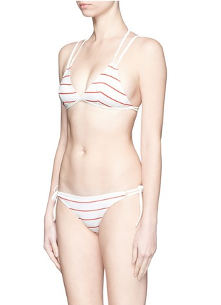 Figure View - Click To Enlarge - Solid & Striped - 'The Lilly' stripe bikini tie bottoms