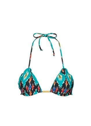 Main View - Click To Enlarge - ViX - 'Rumis Ripple' ikat print triangle bikini top