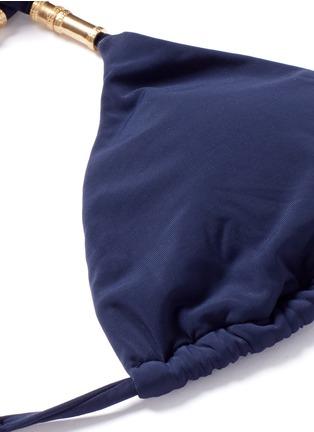 Detail View - Click To Enlarge - ViX - 'Lucy' lattice back bead triangle bikini top