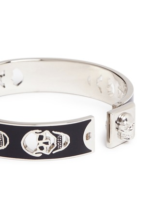 Detail View - Click To Enlarge - Alexander McQueen - Skull enamel bangle
