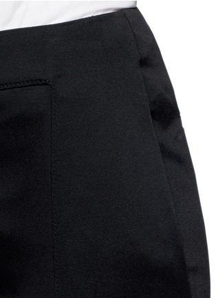 Detail View - Click To Enlarge - Esteban Cortazar - Tailored slim flare cady pants