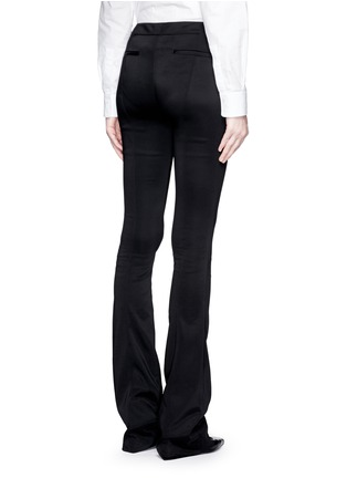 Back View - Click To Enlarge - Esteban Cortazar - Tailored slim flare cady pants