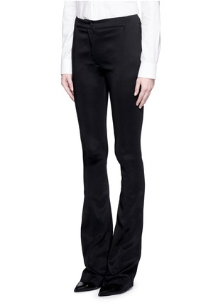 Front View - Click To Enlarge - Esteban Cortazar - Tailored slim flare cady pants