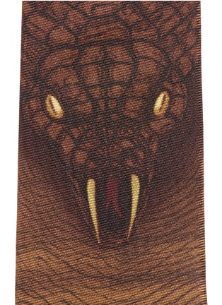 Detail View - Click To Enlarge - Givenchy - Cobra map print silk tie