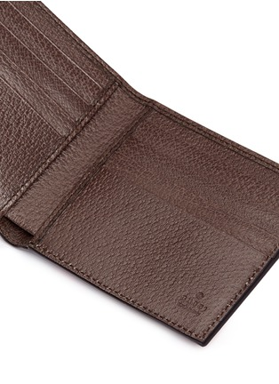 Detail View - Click To Enlarge - Gucci - Stripe chevron print canvas bifold wallet