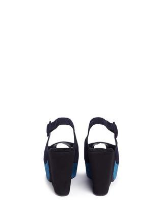 Back View - Click To Enlarge - Robert Clergerie - 'Dylanl' slingback suede platform wedge sandals