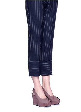 Figure View - Click To Enlarge - Robert Clergerie - 'Dylanl' slingback suede platform wedge sandals