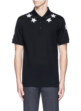 Main View - Click To Enlarge - Givenchy Beauty - Star patch polo shirt