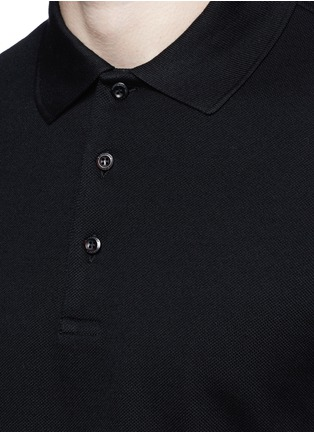 Detail View - Click To Enlarge - Givenchy - Contrast band polo shirt
