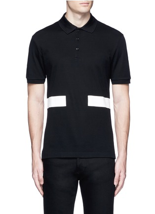 Main View - Click To Enlarge - Givenchy - Contrast band polo shirt