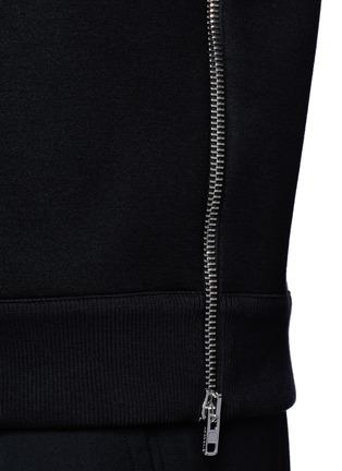 Detail View - Click To Enlarge - Givenchy - Zip neoprene sweatshirt
