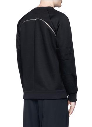Back View - Click To Enlarge - Givenchy - Zip neoprene sweatshirt