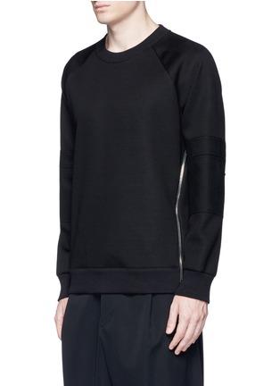 Front View - Click To Enlarge - Givenchy - Zip neoprene sweatshirt