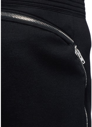 Detail View - Click To Enlarge - Givenchy - Leg zip bonded jersey sweatpants