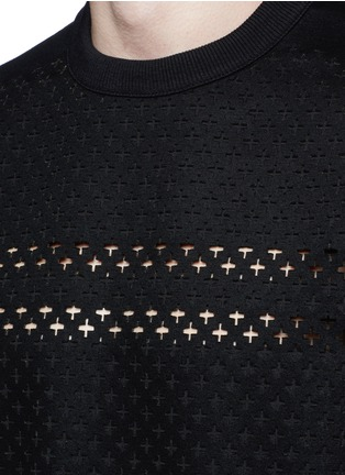 Detail View - Click To Enlarge - Givenchy - Cross perforated sweatshirt