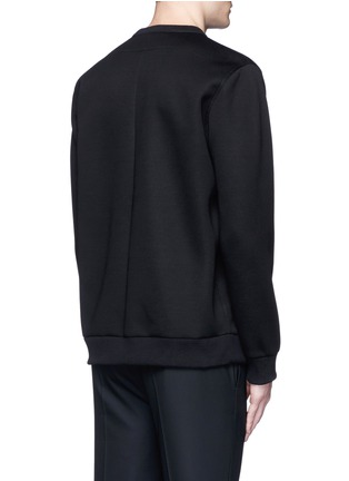 Back View - Click To Enlarge - Givenchy - Cross perforated sweatshirt