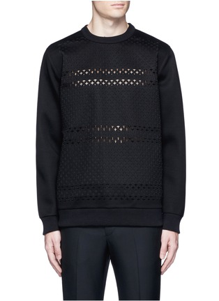 Main View - Click To Enlarge - Givenchy - Cross perforated sweatshirt