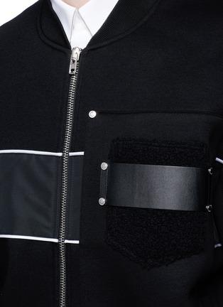 Detail View - Click To Enlarge - Givenchy - Mixed media bomber jacket