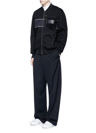 Figure View - Click To Enlarge - Givenchy - Mixed media bomber jacket