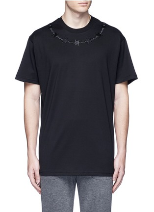 Main View - Click To Enlarge - Givenchy - Barb wire embroidery T-shirt