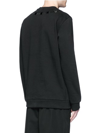Back View - Click To Enlarge - GIVENCHY - Barb wire embroidery sweatshirt