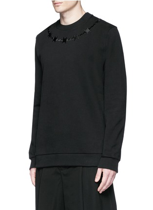 Front View - Click To Enlarge - Givenchy - Barb wire embroidery sweatshirt