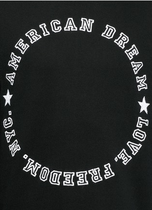 Detail View - Click To Enlarge - Givenchy - 'American Dream' embroidery sweatshirt