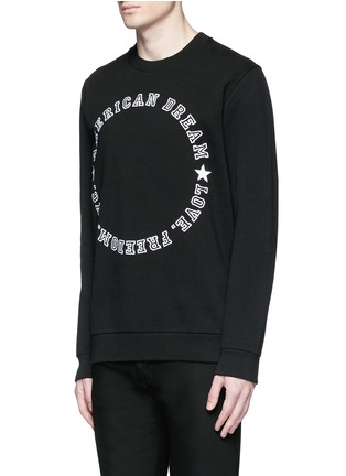 Front View - Click To Enlarge - Givenchy - 'American Dream' embroidery sweatshirt
