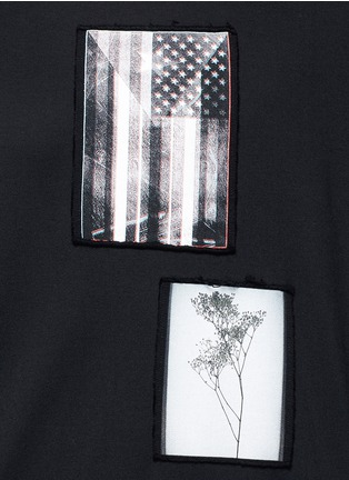 Detail View - Click To Enlarge - Givenchy - American flag print patch T-shirt