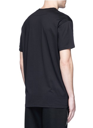 Back View - Click To Enlarge - Givenchy - American flag print patch T-shirt