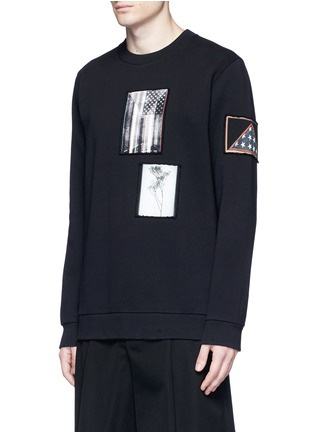 Front View - Click To Enlarge - Givenchy - Flag patch cotton sweatshirt