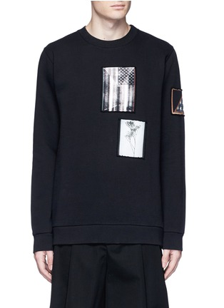 Main View - Click To Enlarge - Givenchy - Flag patch cotton sweatshirt