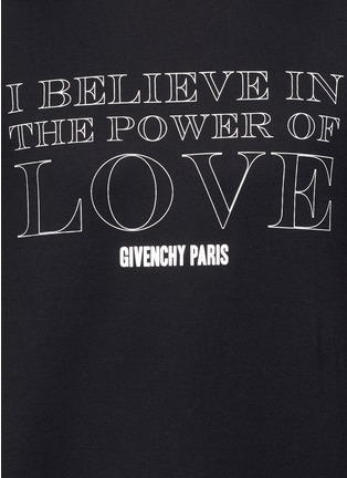 Detail View - Click To Enlarge - Givenchy - 'POWER OF LOVE' print T-shirt