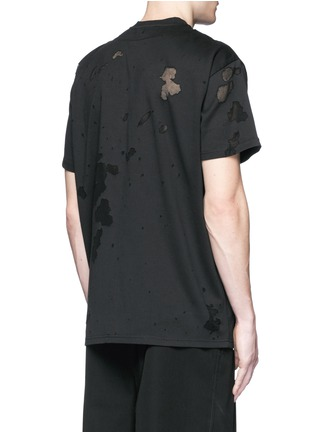 Back View - Click To Enlarge - Givenchy - Logo print distressed T-shirt