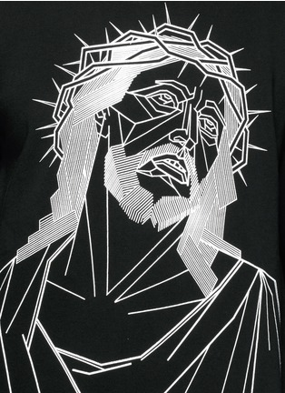 Detail View - Click To Enlarge - Givenchy - Abstract Jesus print sweatshirt