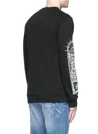 Back View - Click To Enlarge - Givenchy - Abstract Jesus print sweatshirt