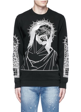Main View - Click To Enlarge - Givenchy - Abstract Jesus print sweatshirt