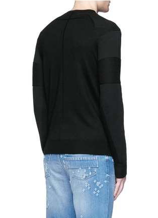 Back View - Click To Enlarge - Givenchy - Star intarsia Merino wool sweater