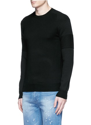 Front View - Click To Enlarge - Givenchy - Star intarsia Merino wool sweater