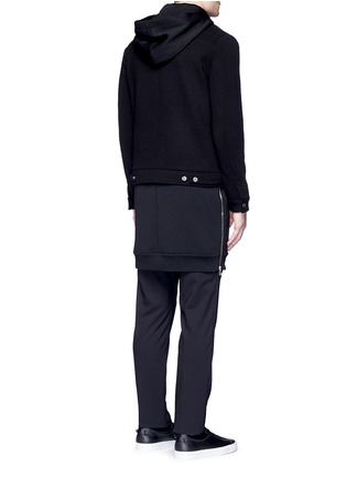 Back View - Click To Enlarge - GIVENCHY - Double layer wool hood parka