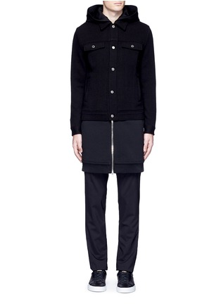 Main View - Click To Enlarge - GIVENCHY - Double layer wool hood parka