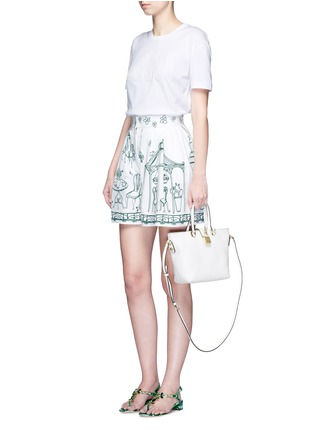 Detail View - Click To Enlarge - Dolce & Gabbana - 'Rosaria' mini grainy leather zip tote